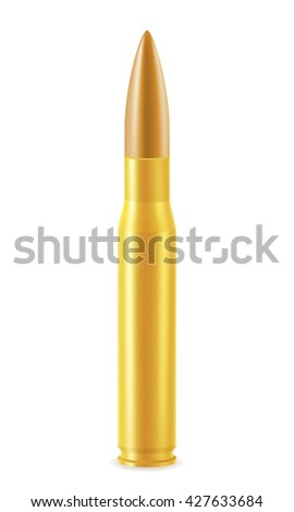 ball cartridge with a bullet illustration isolated on white background