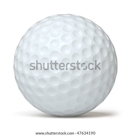 ball for golf on a white surface. In my portfolio there is collection of pictures of sport themes. You only enter IN a SEARCH the Photographer Name: PAVEL IGNATOV and keyword: SPORT - stock photo