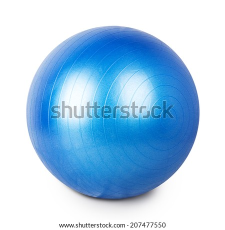 ball for gymnastics Isolated on white background - stock photo