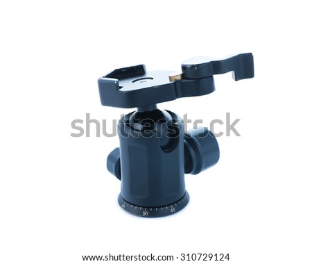 ball head of tripod  isolated on white background.
