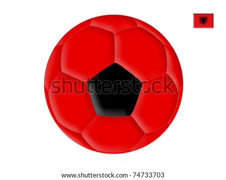 Ball in colors of the flag of Albania