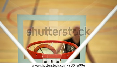 Ball in the basket - stock photo