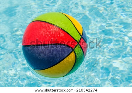 Ball in the pool. Photo for microstock