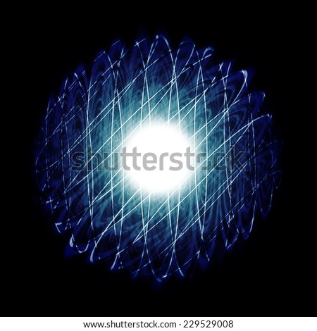 ball of energy full colored and sparkling - stock photo