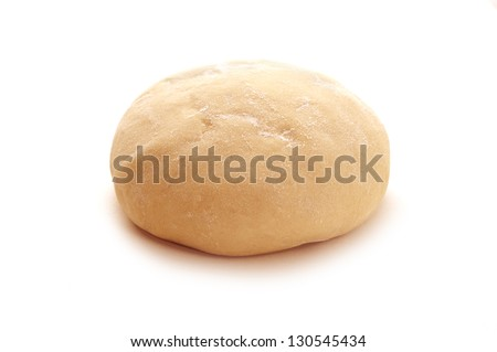 ball of raw dough over white background - stock photo