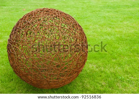 ball of rusty wire - stock photo