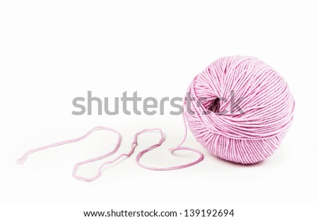 Ball of yarn - stock photo