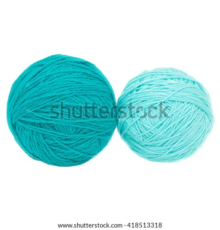 Ball of yarn for knitting - stock photo