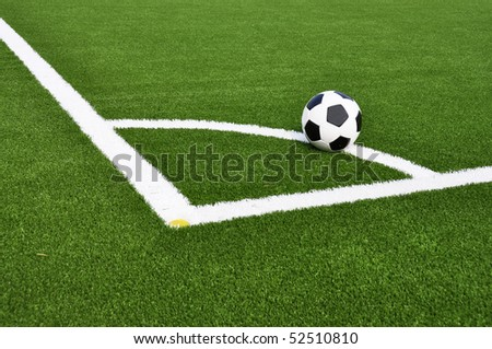 Ball on the soccer field