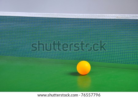 ball on the table for ping pong