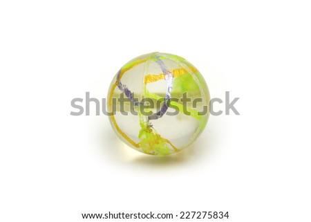 ball on the white background - stock photo