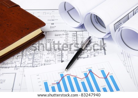Ball pen, chartsr, documents, diary, workplace businessman