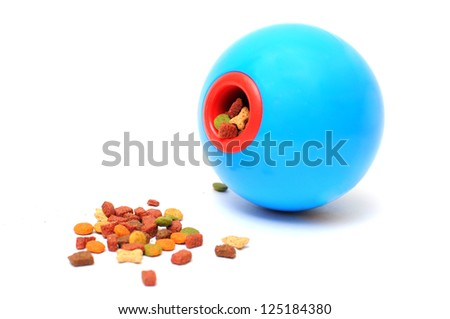 Ball toy for feeding pet - stock photo