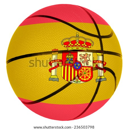Ball with flag of Spain for basketball game - stock photo