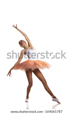 ballerina dancing on a white background