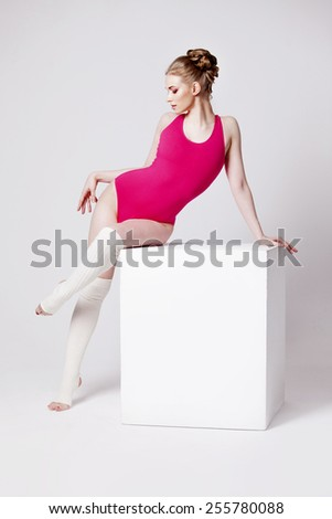ballet dancer - stock photo