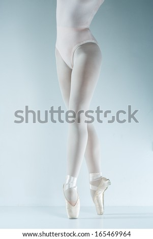 Ballet dancer. Train in the studio. Workout. - stock photo