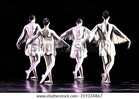 ballet dancers drawing filter