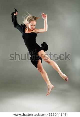ballet dancers in rehearsal - stock photo