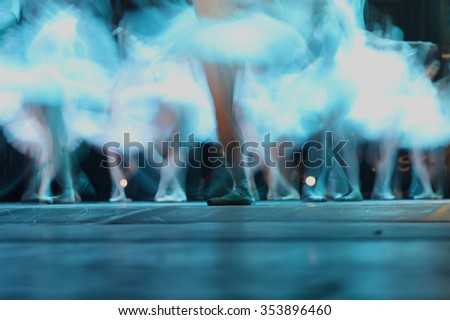 Ballet in motion  - stock photo