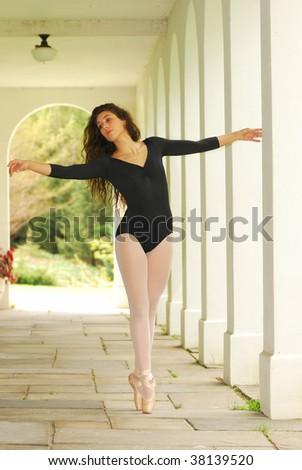 ballet in the corridor - stock photo
