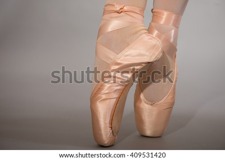 Ballet Shoes On Tiptoe