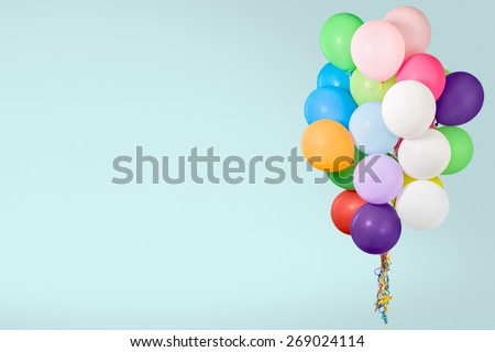 Balloon. Color balloons isolated on white - stock photo