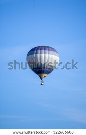 balloon flight in the blue sky