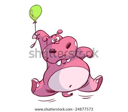 balloon hippo - stock photo
