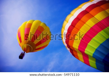 balloon in the sky - stock photo