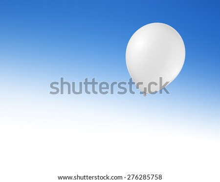 Balloon in the sky with space for text - stock photo