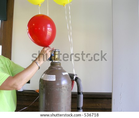 Balloon is filled with helium for children's amusement