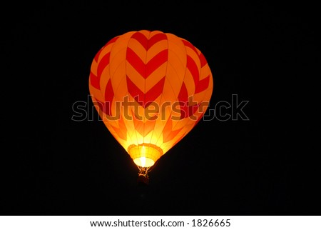 Balloon lighting up the night, Reno, Nevada - stock photo