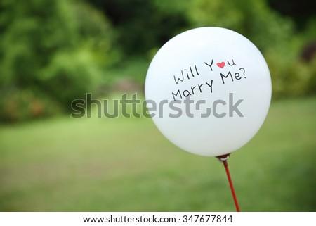 balloon on wedding - stock photo