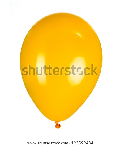 balloon, photo on the white background - stock photo