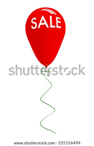 Balloon with single word SALE