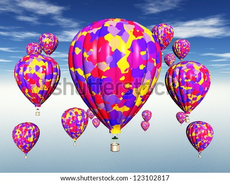 Balloons Computer generated 3D illustration