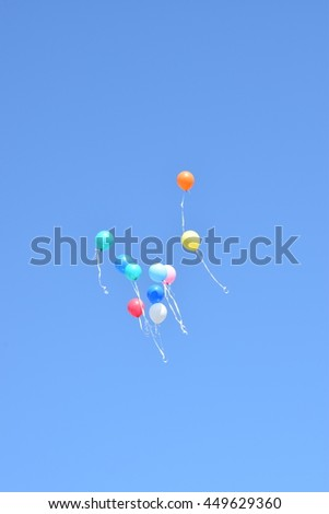 Balloons floating