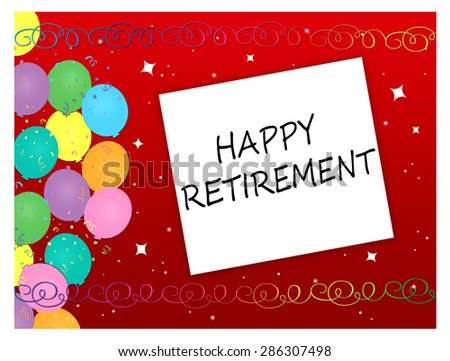 Balloons - Happy Retirement  - stock photo