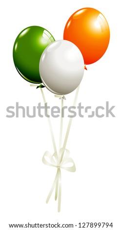 Balloons in irish colors - stock photo