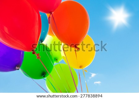 Balloons in the sky - stock photo