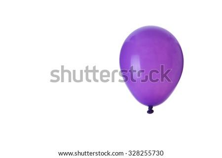 Balloons isolated on white background - stock photo