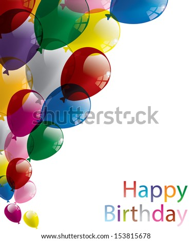 Balloons party birthday greeting card