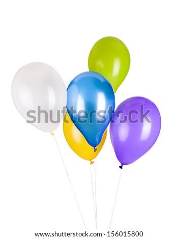 balloons, photo on the white background  - stock photo