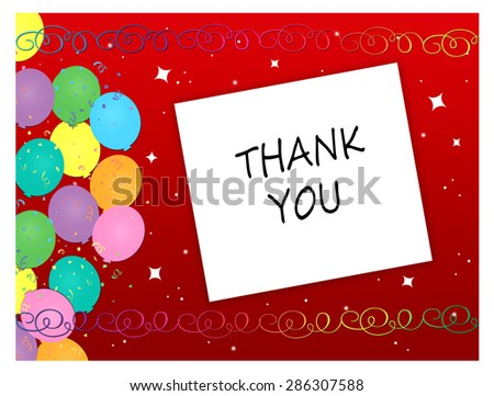 Balloons - Thank You - stock photo