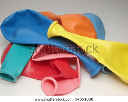 Balloons Without Air - stock photo