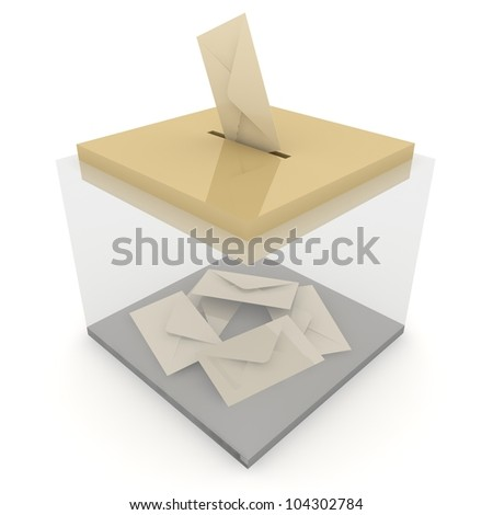 Ballot box with some votes. . Concept of voting / email / postage - stock photo