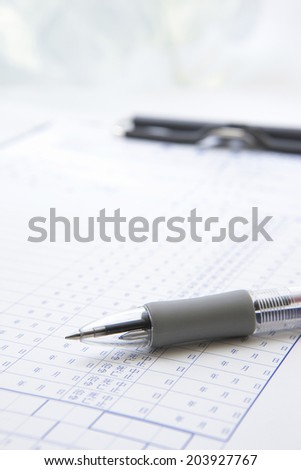 Ballpoint Pen And Medical Record