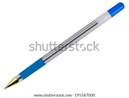 ballpoint pen isolated on white background - stock photo