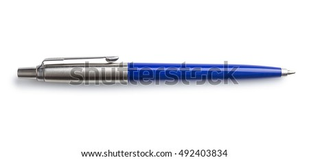 Ballpoint pen isolated on white background.